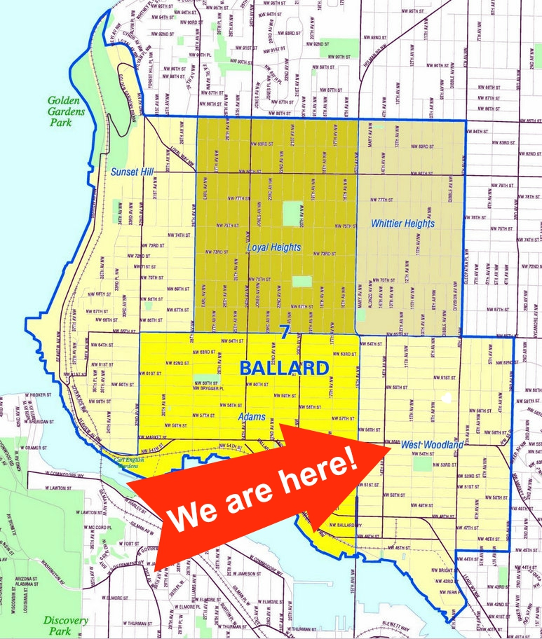 West Woodland Ballard A Blog About Ballards West Woodland - Seattle map neighborhood guide