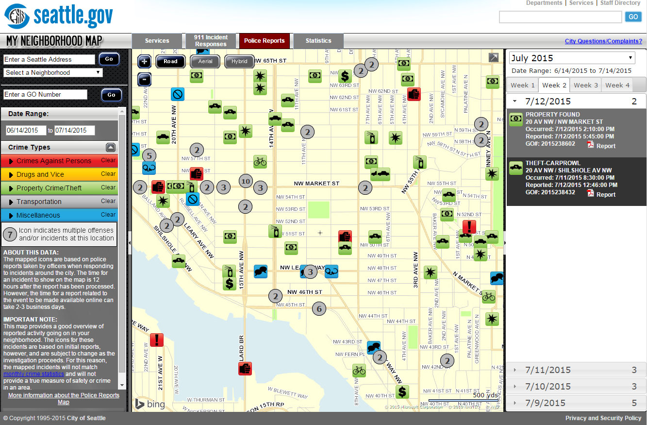 Police Report Maps What issues are happening on your street