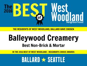 2016 - Balleywood Creamery