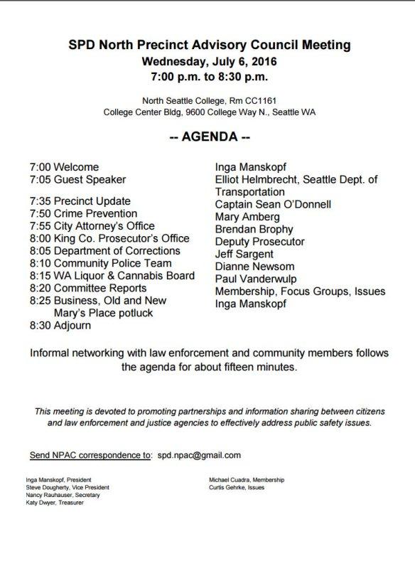 SPD - July agenda