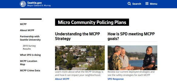 SEATTLE Micro Policing Plans Screenshot