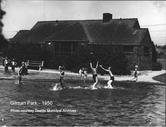 Gilman Park - wading pool - 1950