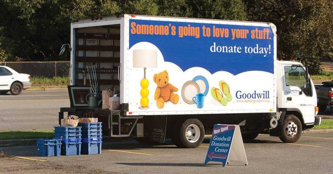 Goodwill - Ballard HS - Stuff the truck