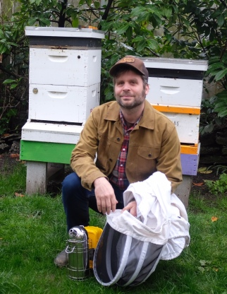 Ballard West Woodland Bee Company Jason_At_His_Ballard_Backyard_Apiary