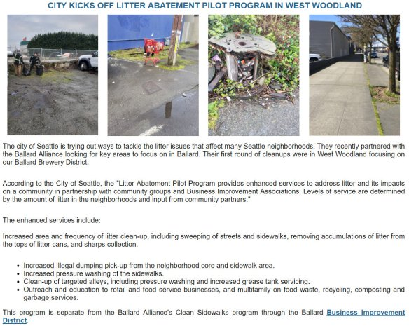 Ballard West Woodland Litter Clean Up